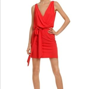 Haute Hippie Try Not to Stare Plunge Red Dress